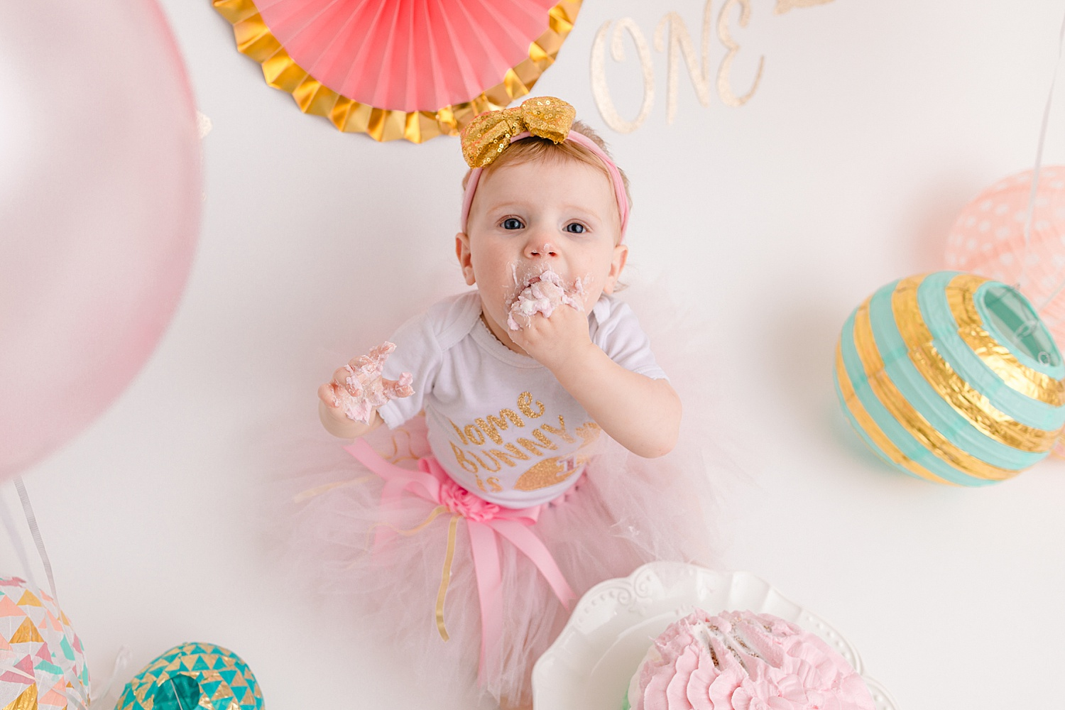 Berks County one year old cake smash portrait photoshoot Pennsylvania child photographer