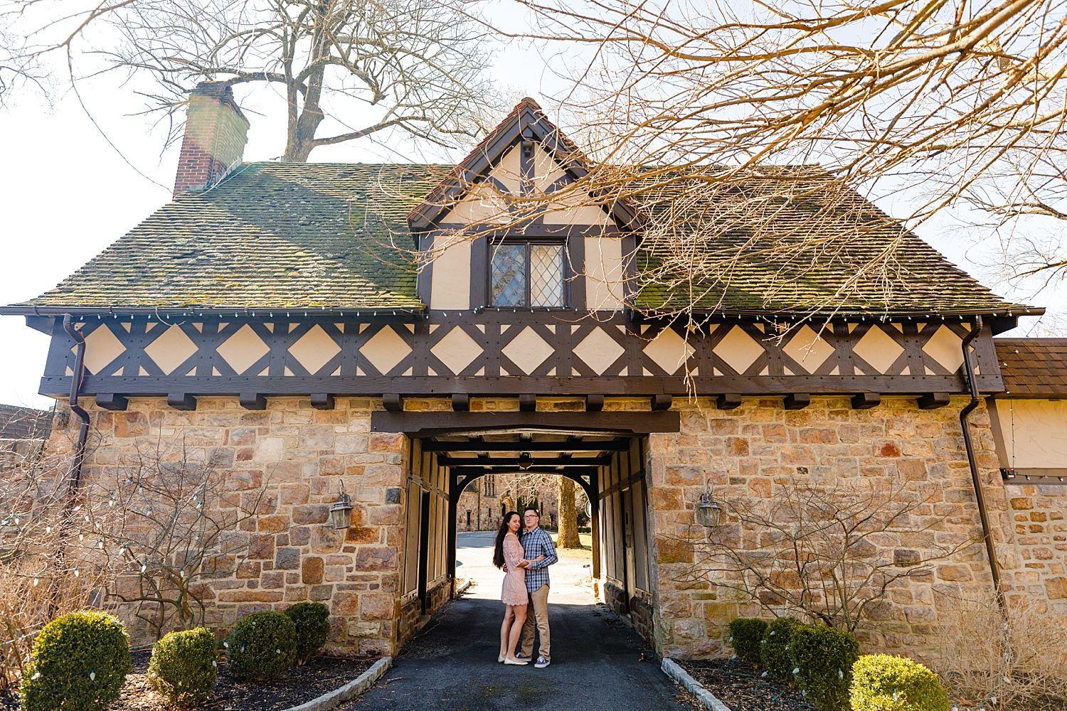 Stokesay Castle Reading Pennsylvania Berks County wedding engagement photographer