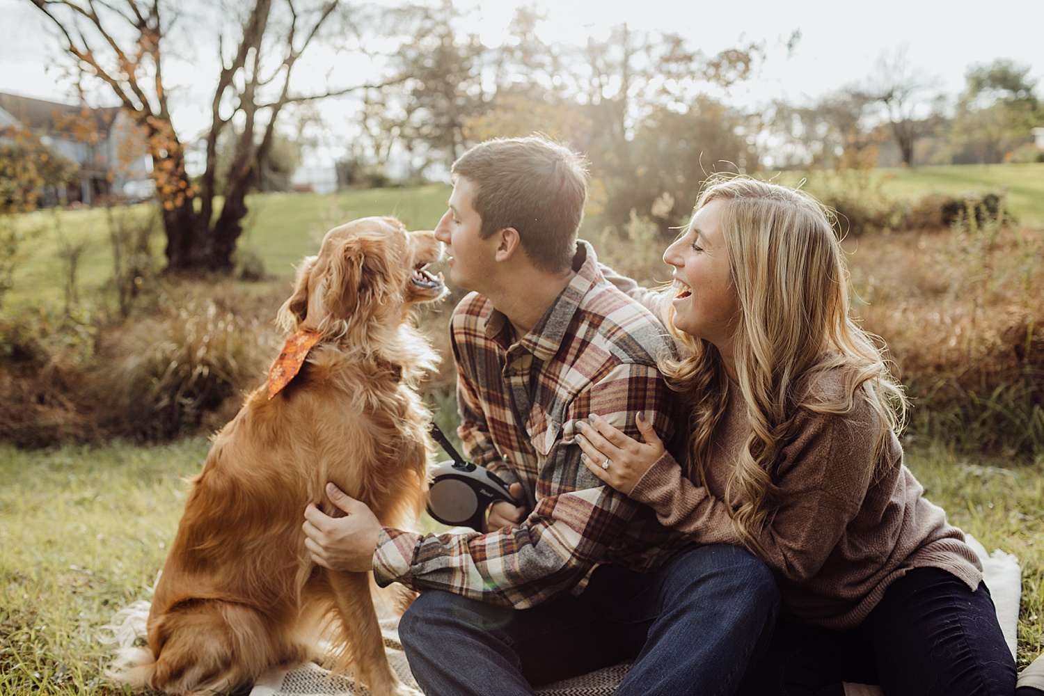 Lehigh Valley Pennsylvania engagement session portrait wedding photographer fall farm