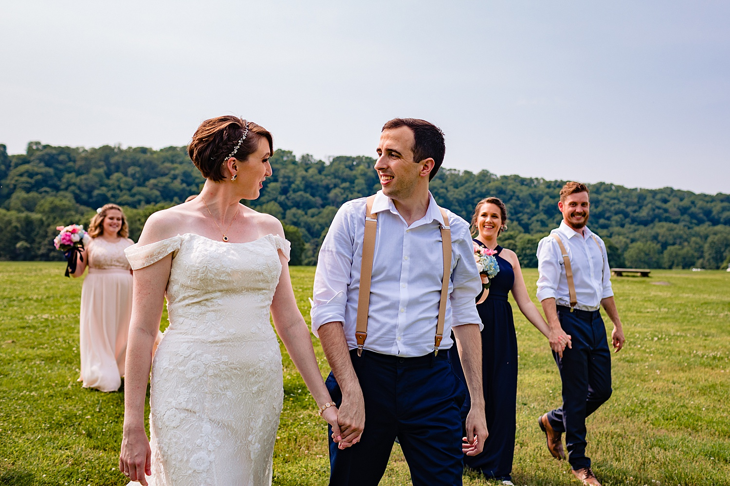 summer Tinicum Park Bucks County barn wedding photographer