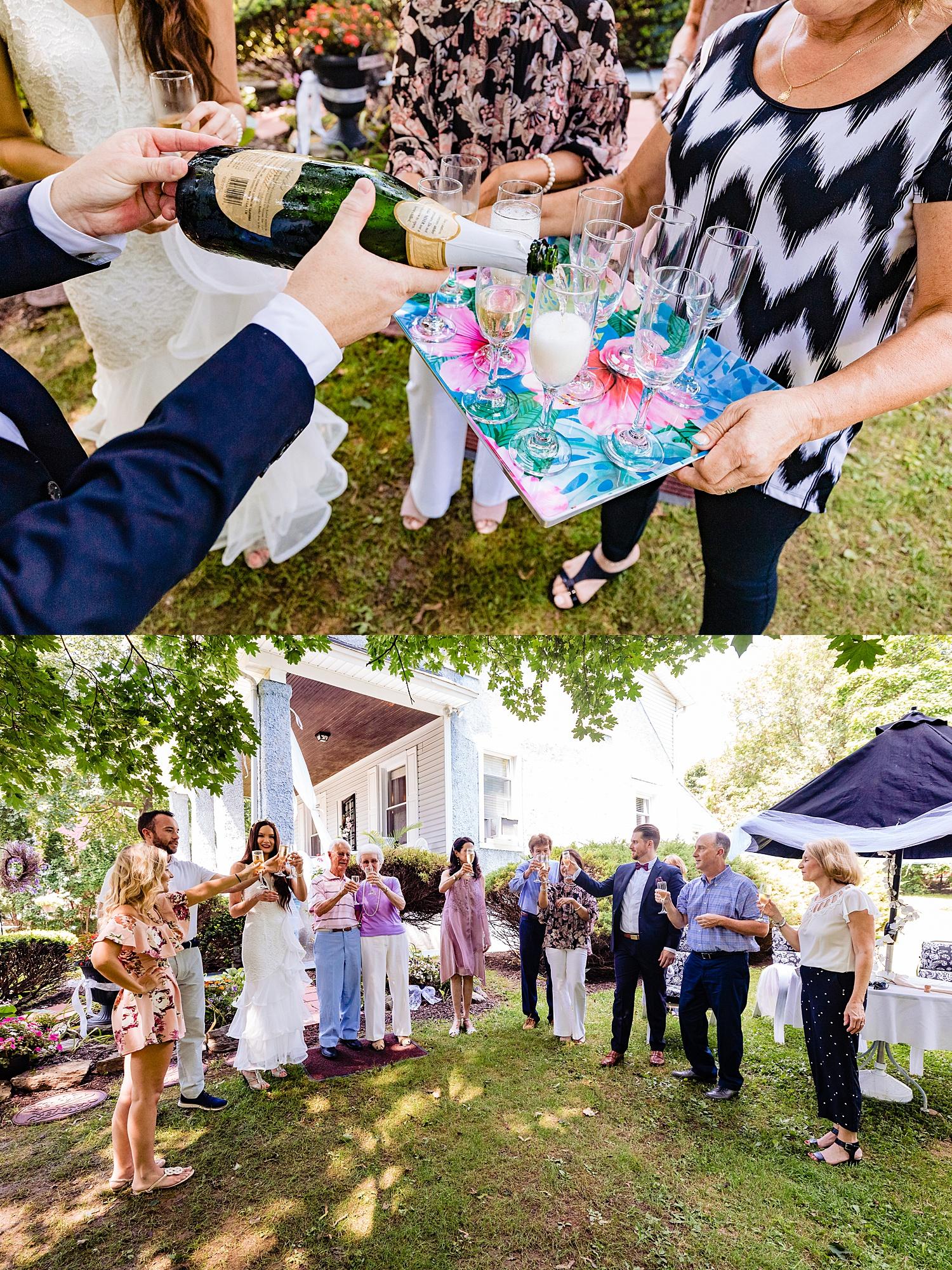 intimate Reading Pennsylvania outdoor summer backyard wedding photographer