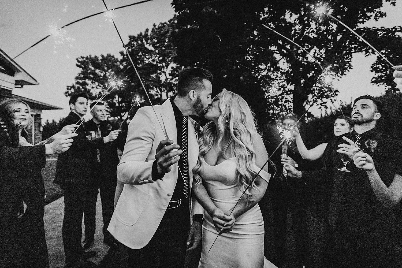Eastlyn Golf Course outdoor summer wedding Vineland New Jersey photographer sparkler exit sendoff