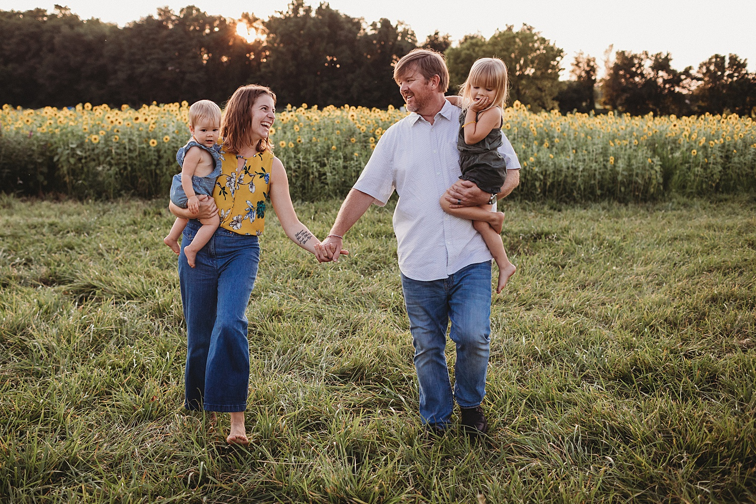 sunflower field Mechanicsburg Harrisburg family children photographer