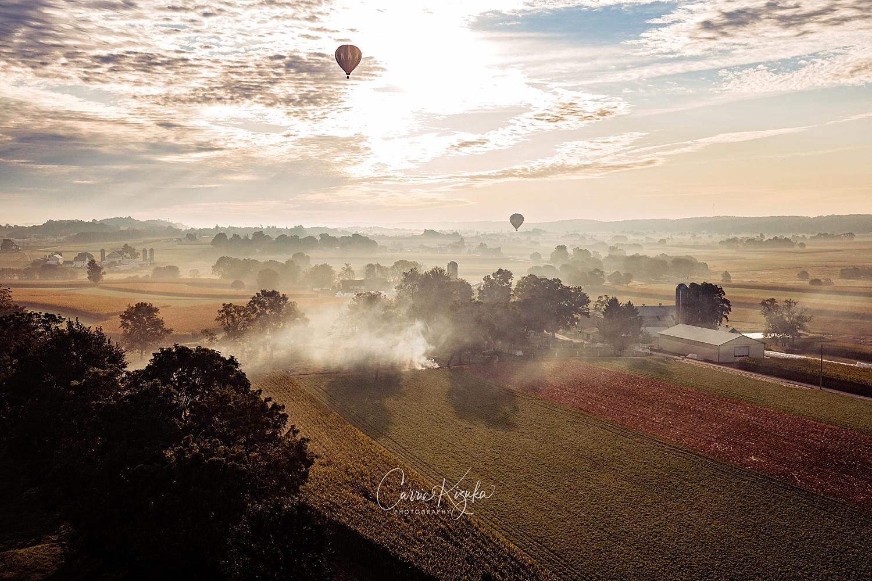 The Lancaster Hot Air Balloon Festival Bird-in-Hand sunrise Pennsylvania photographer