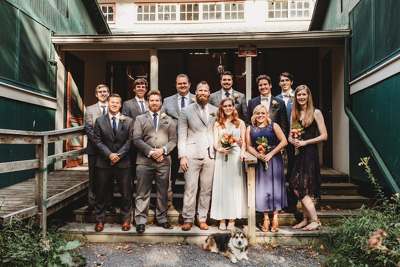 Camp Nawakwa Lutheran Biglerville Adams County Pennsylvania outdoor summer wedding photographer crafts hall