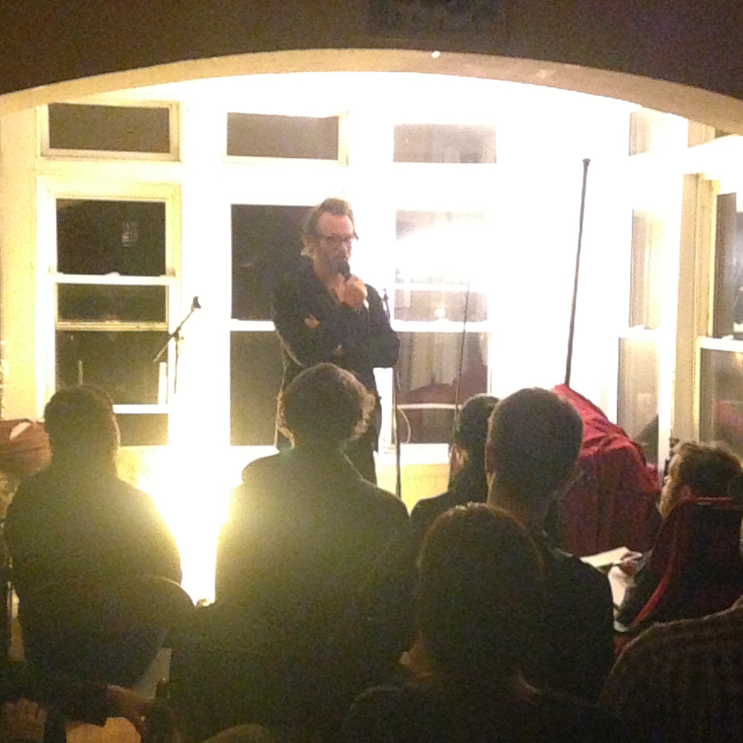Ben Kronberg dropping in to do a set at a WSLY apartment show.