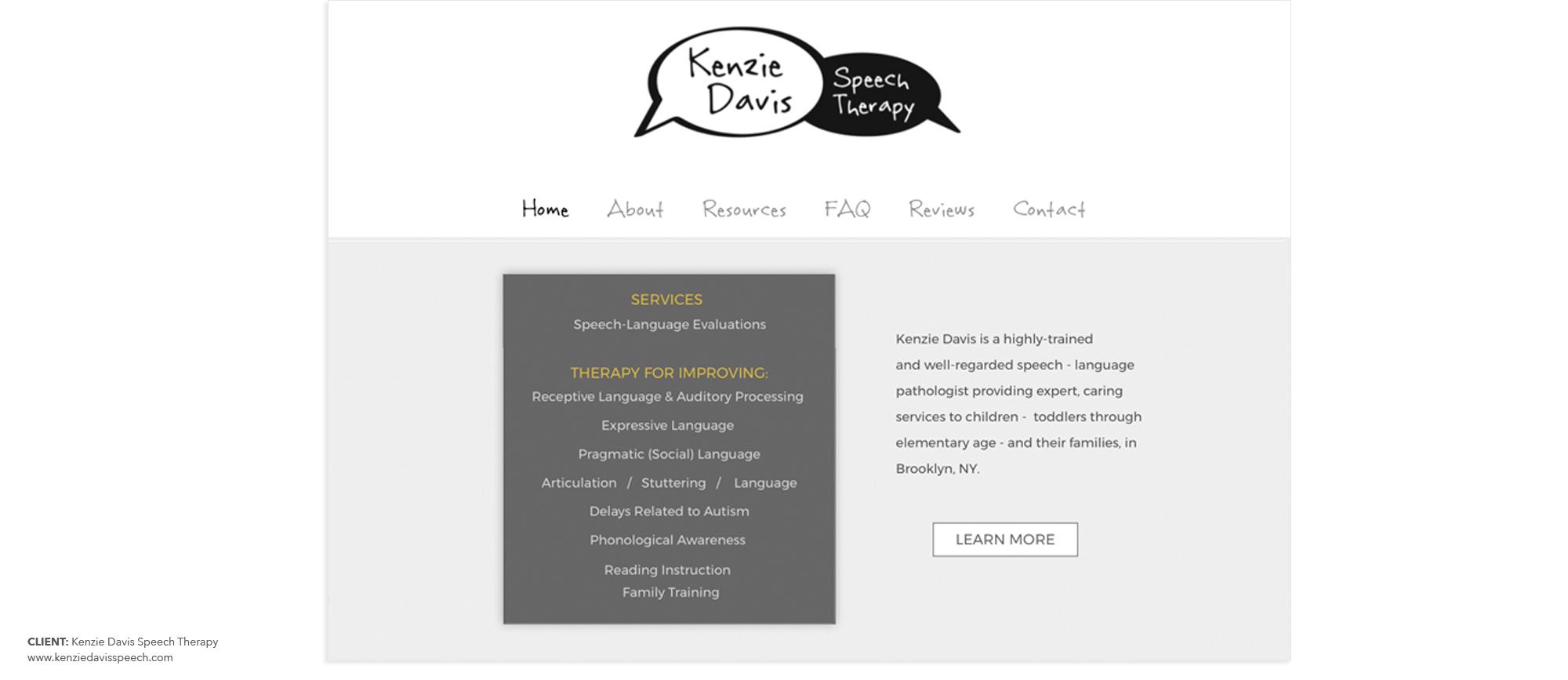Kenzie Davis Speech Therapy