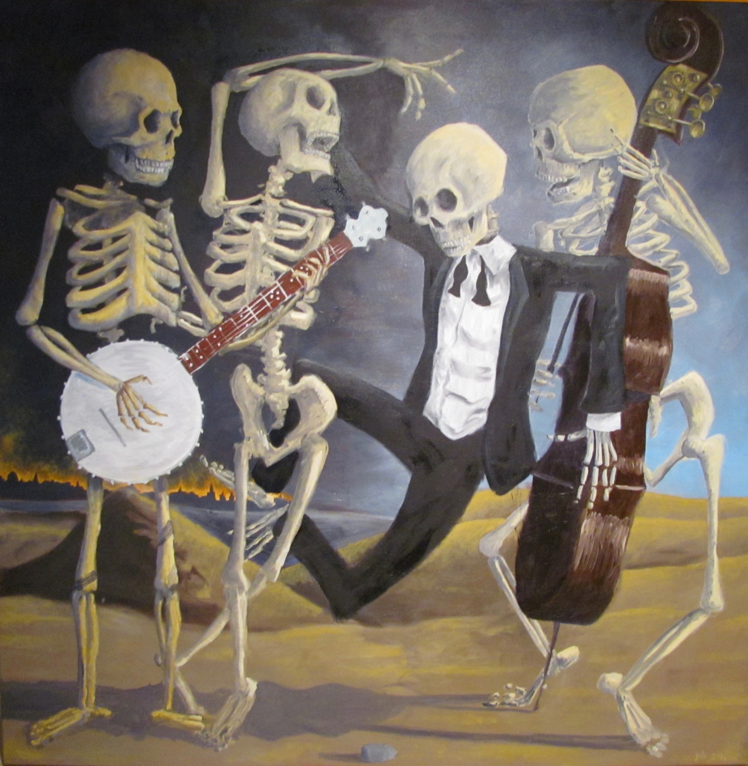 "Danse Macabre,  Oil on Canvas, 36"" x 36"", 2016"