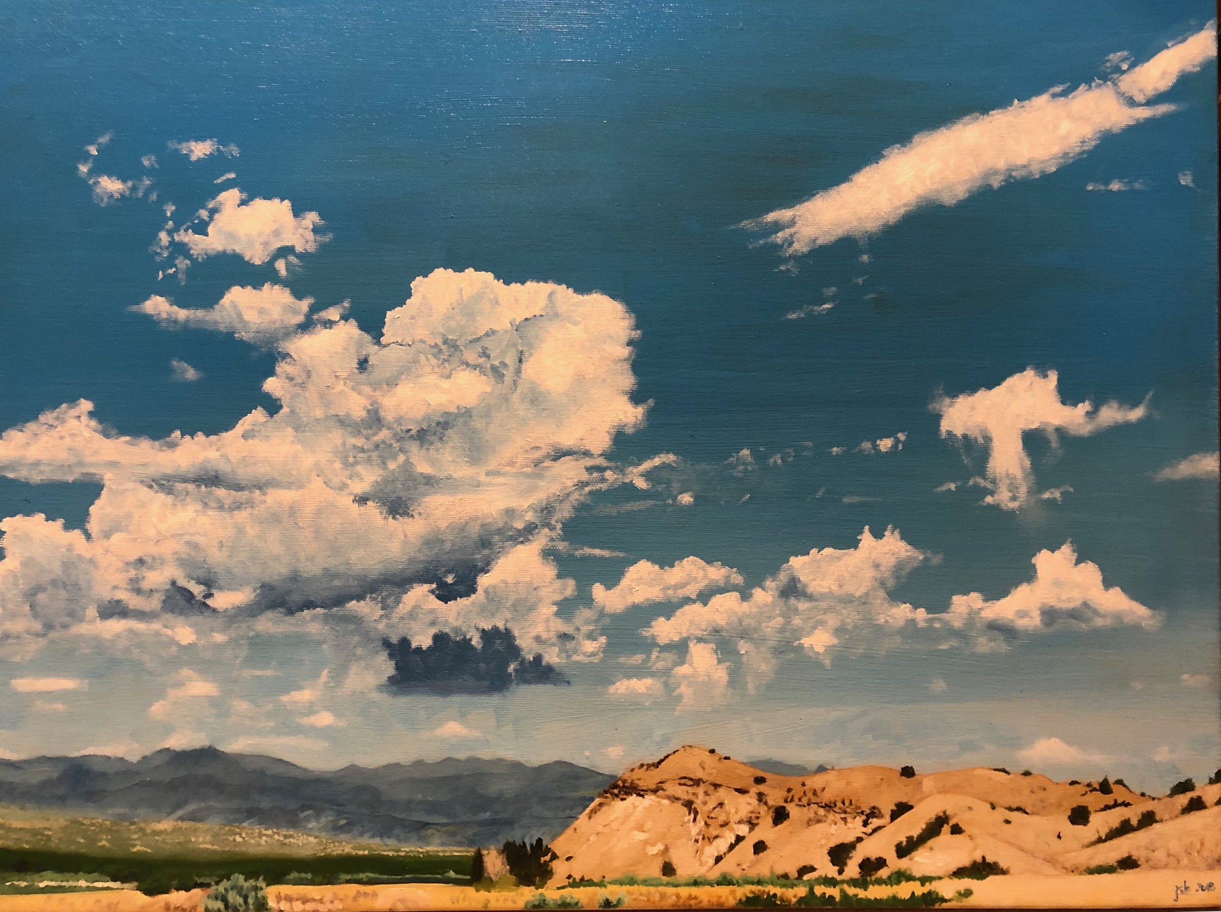 "Jemez Mountains, South of Peña Blanca, New Mexico; Oil on Canvas; 18""x24"""