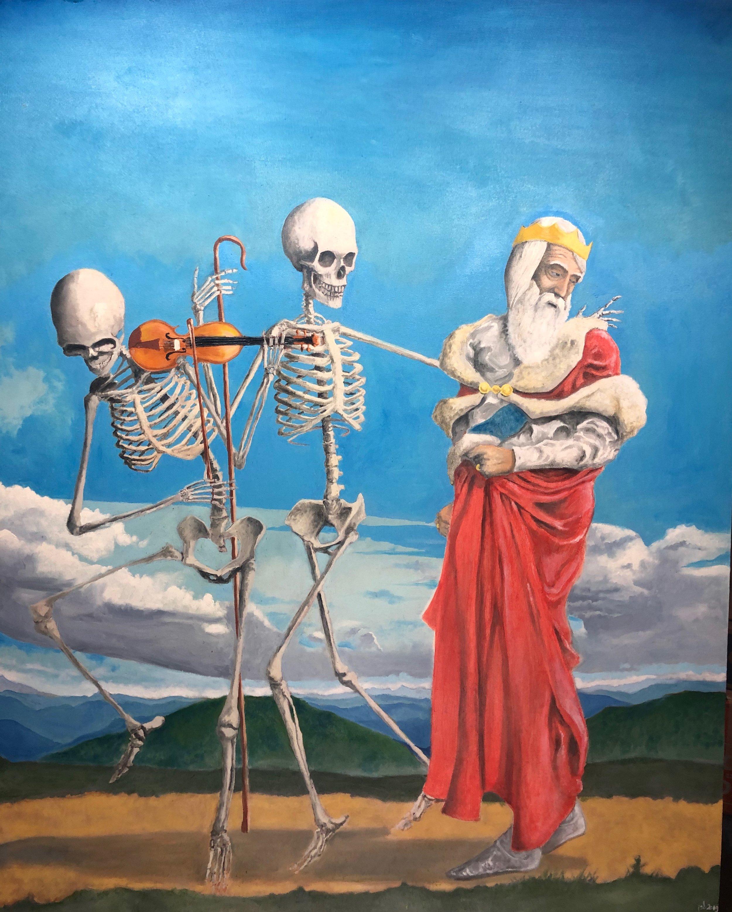 "Danse Macabre No. 3; Oil on Canvas, 44x36""; 2019"