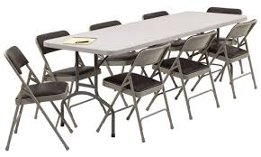 6 ft. rectangle tables$6.00 + TAX /eaFolding Chair$1.00 + TAX/ea -