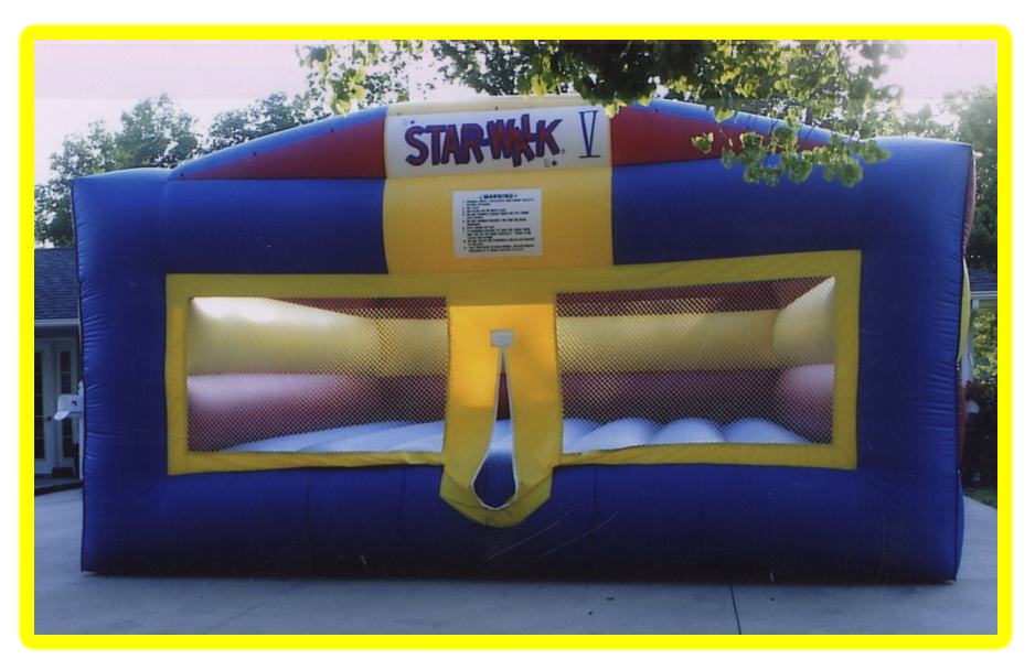 Star-walk$185.00 + tax - 22' X 24' The Star-Walk is our Largest Bounce House,The Anti Gravity styled Bouncer gives riders the walking on the moon feeling.