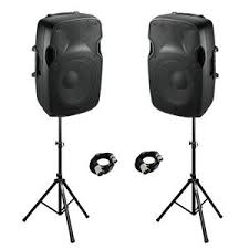 Sound System$150.00 + tax - Includes 2 speakers, speaker stands, 1/8 cable to connect to any headphone style jack.Apple adapter NOT included.Combine this with our party light system for the ultimate dance party to handle birthday parties, wedding receptions or any other get together!