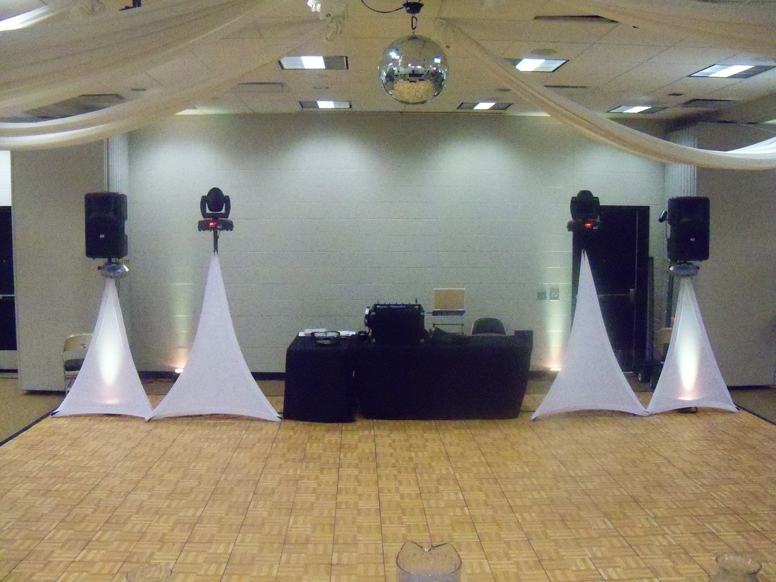 dj service - Packages starting at $800.00Equipment and set up will vary depending on number of guests and size of room.