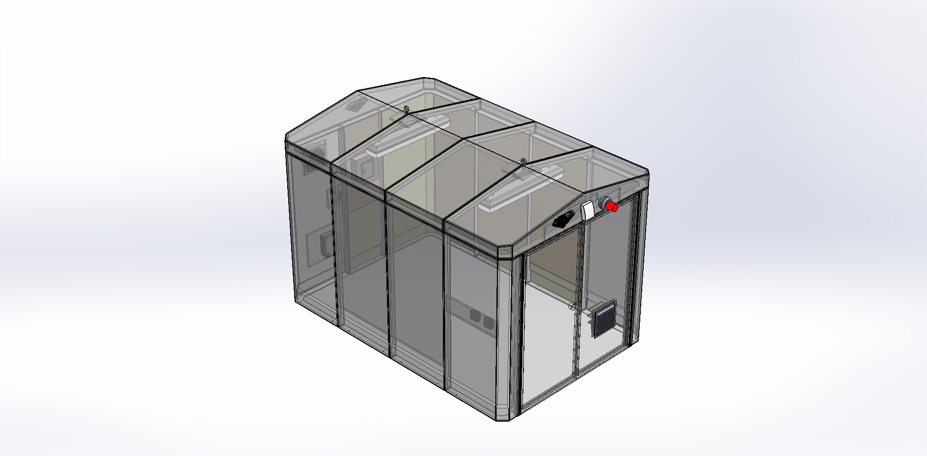 SolidWorks representation of Custom FRP Building