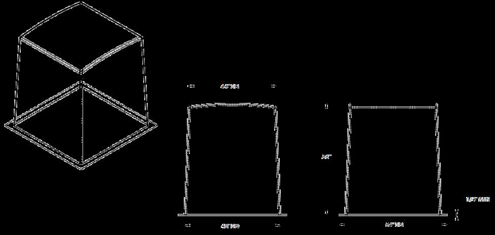 """48"""" Fiberglass Enclosure Cube"""