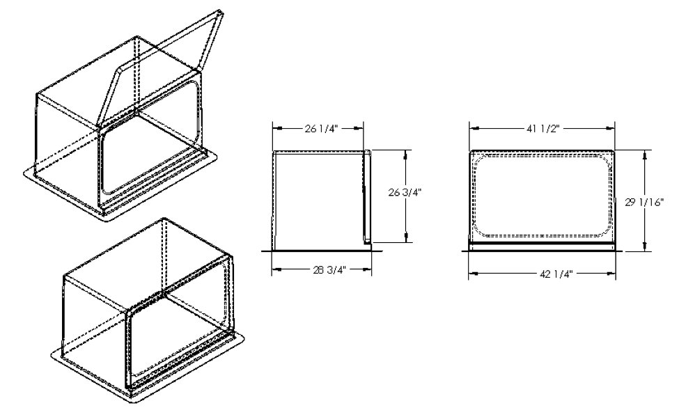 3522 Fiberglass Enclosure Drawing