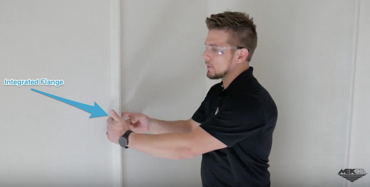 The integrated flange is unique to MEKCO fiberglass buildings