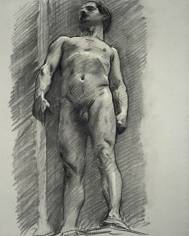 Foreshortening study by Johnson Singer Sargent, 1890 - 1915, charcoal on paper, Harvard Art Museums, #figleavesareforsissies #realmendrawdicks #dontbeaphilistine #foreshortening #charcoal #drawing #figuredrawing #lifedrawing #draw #boston #museum #malefigure #art #Johnson #sargent #fogg #HarvardArtMuseums #tonedpaper