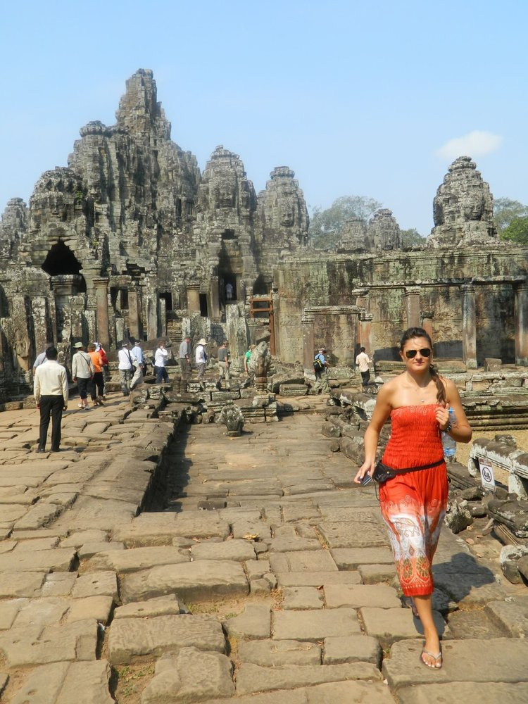 Exploring ancient temples in Cambodia