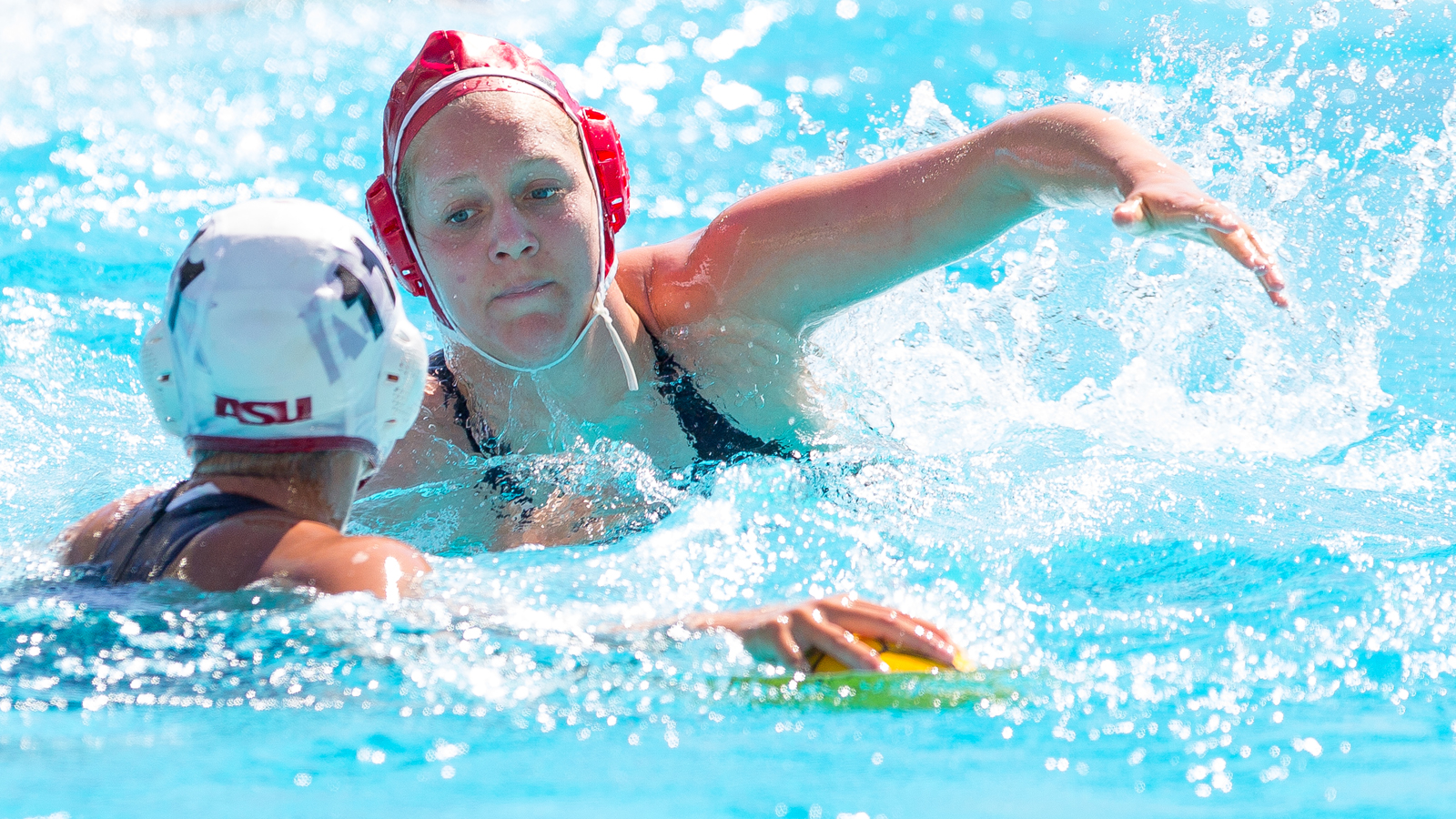 Palo Alto, CA- Stanford Women's Waterloo defeats the Arizona State University Sun Devils 8-5 on Saturday, March 26, 2016.