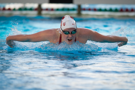 STANFORD, CA - Stanford Women's Swimming Team, photographed at the Avery Aquatic Center.