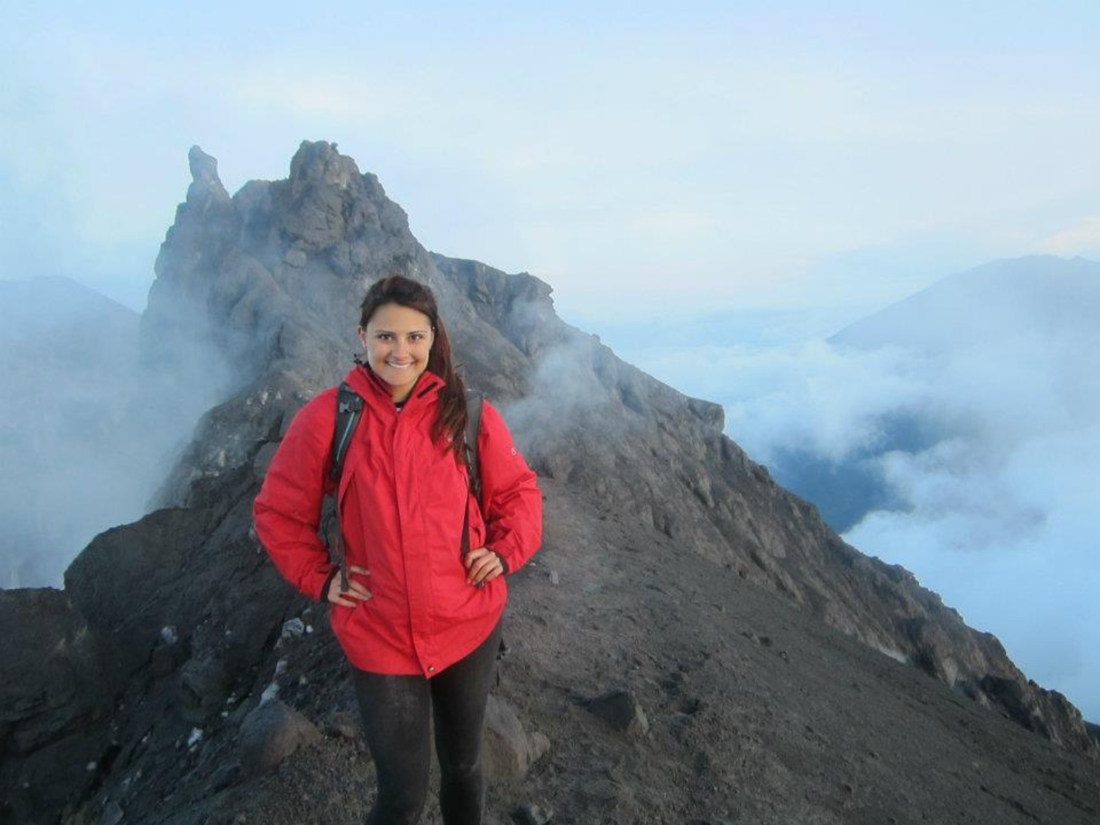 Climbing an active volcano in Indonesia