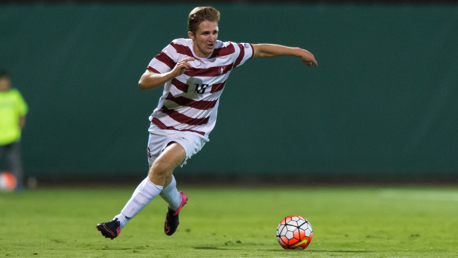 Stanford, CA - September 4, 2015: Eric Verso during the Stanford vs Northeastern men's soccer match in Stanford, California.  The Cardinal defeated the Huskies 1-0.