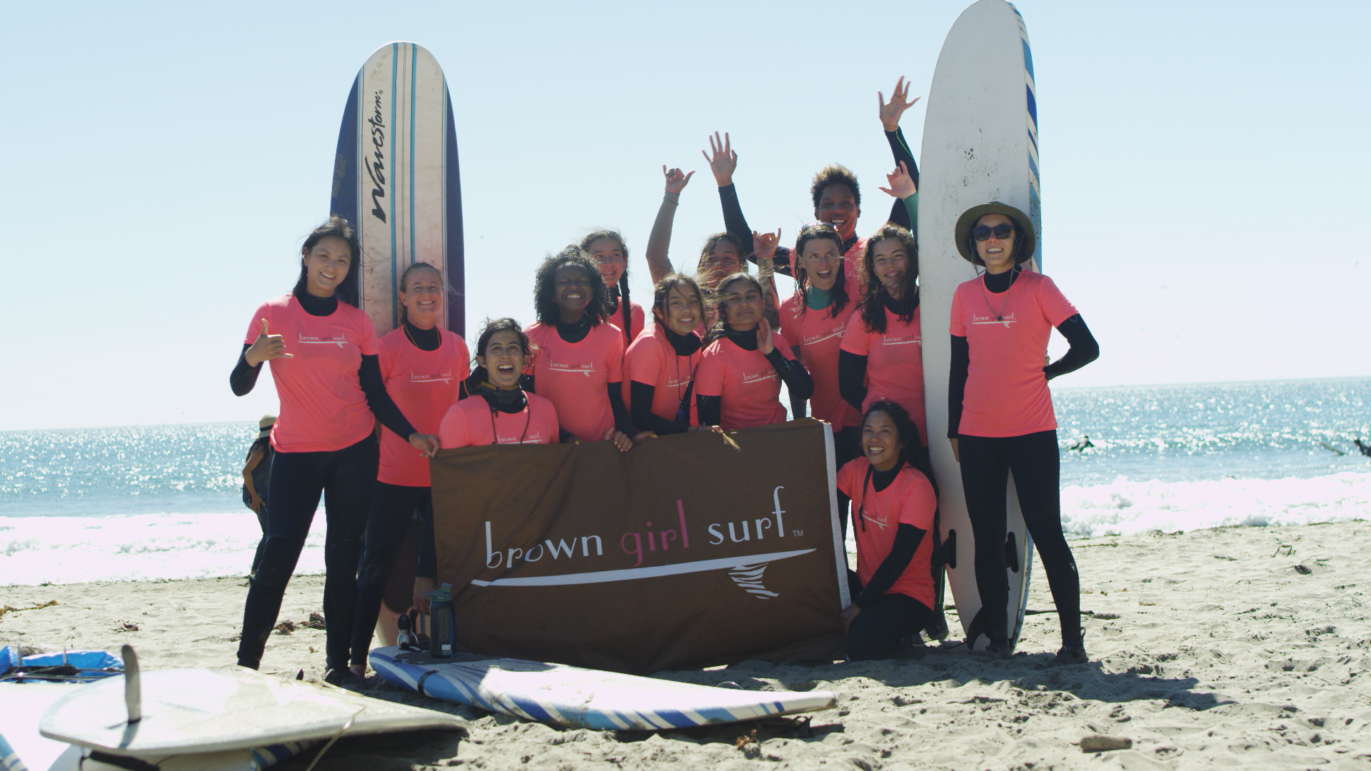 Support us! - Thank you for supporting Brown Girl Surf to build a more diverse, joyful, and environmentally reverent women's surf culture. You can make a recurring or one-time donation online below. To donate by check, please send a check made out to our fiscal sponsor Social Good Fund, with Brown Girl Surf in the memo, to Brown Girl Surf c/o Social Good Fund, PO Box 5473, Richmond, CA 94805