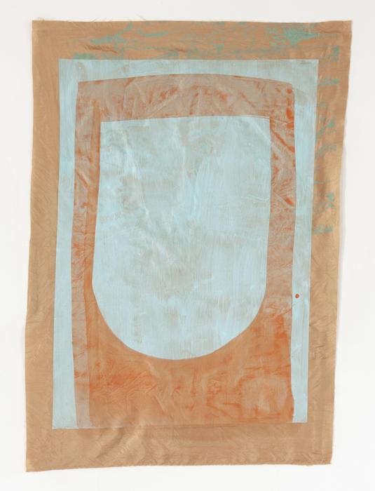 Portal , 2017  Acrylic, gouache, silkscreen on fabric |