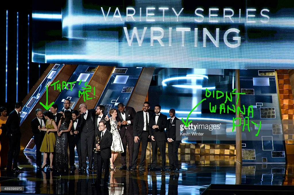 "winning the ""Outstanding Writing for a Variety Series"" Emmy in 2015"