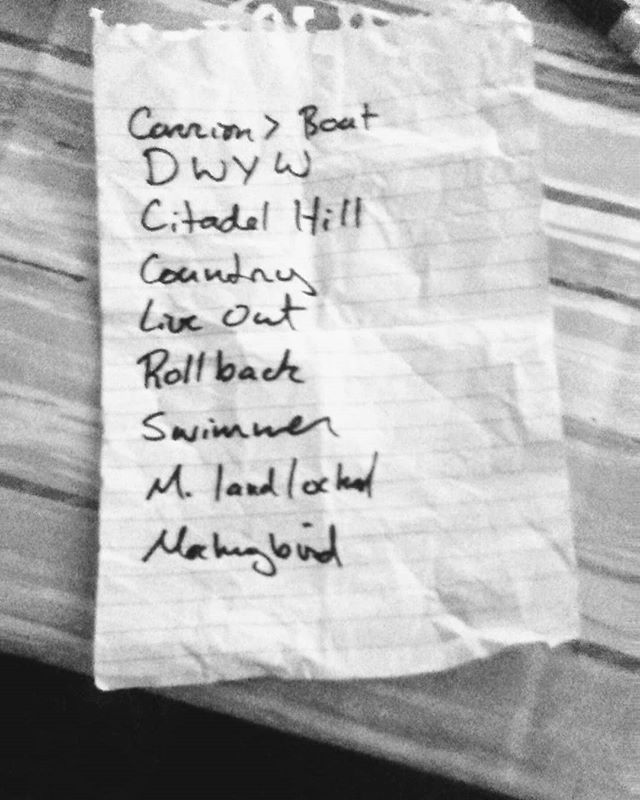 Our last festival set list ever! Thanks for having us @cloggeroopei  #festivalseason #theBarrowDones