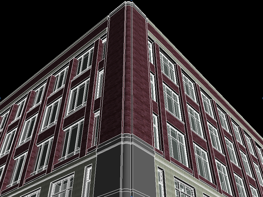 Hotel Exterior 3D Model and 3D Point Cloud Modeling