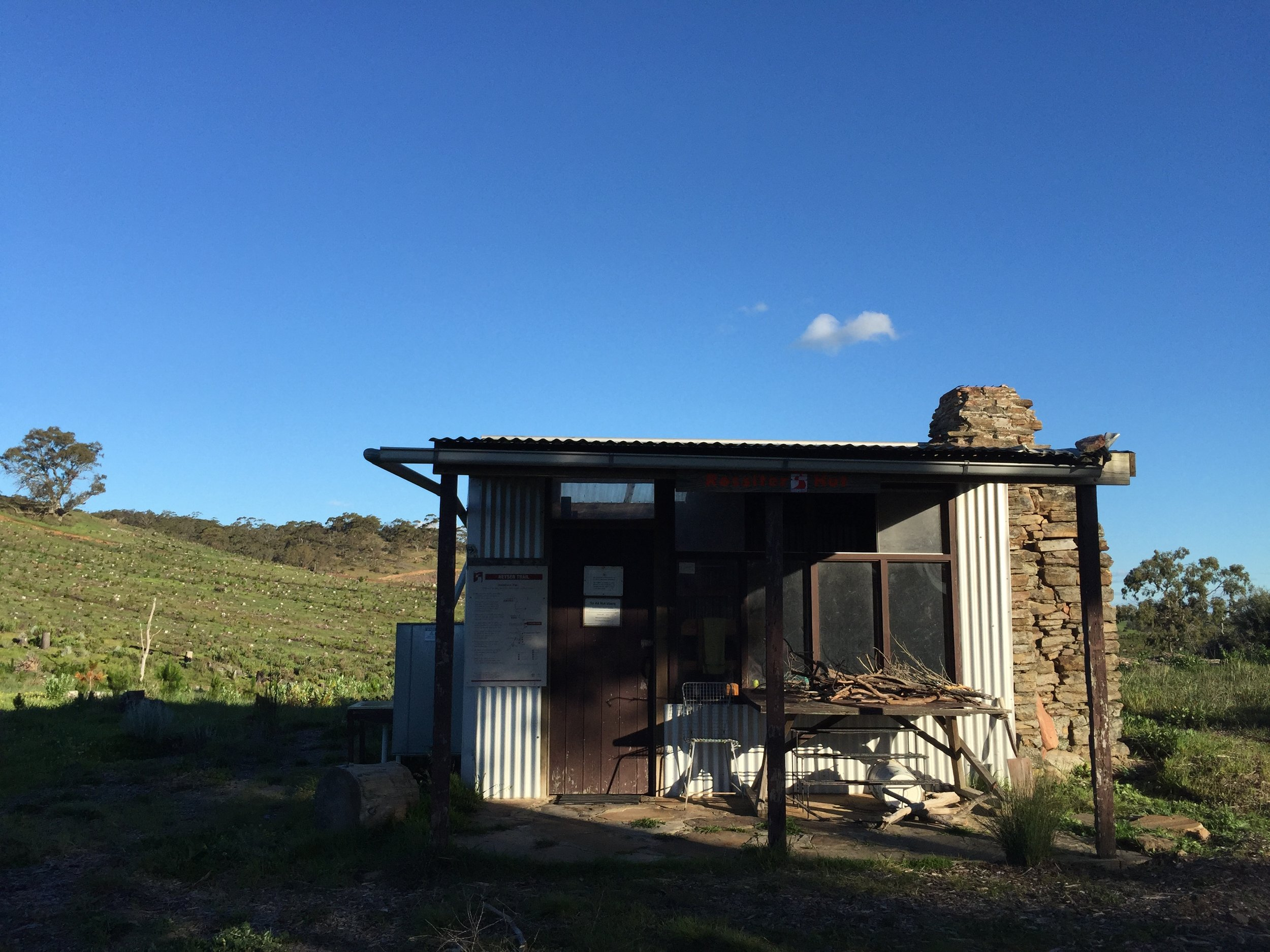 The Rossiters Hut -- it is a luxury while on the Heysen Trail to have such lodgings; its spartan practicality reminds its transient inhabitants about living simply.