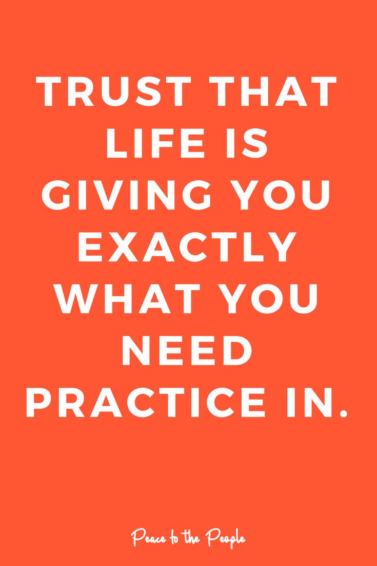 Mantras Trust Quote Practice Life