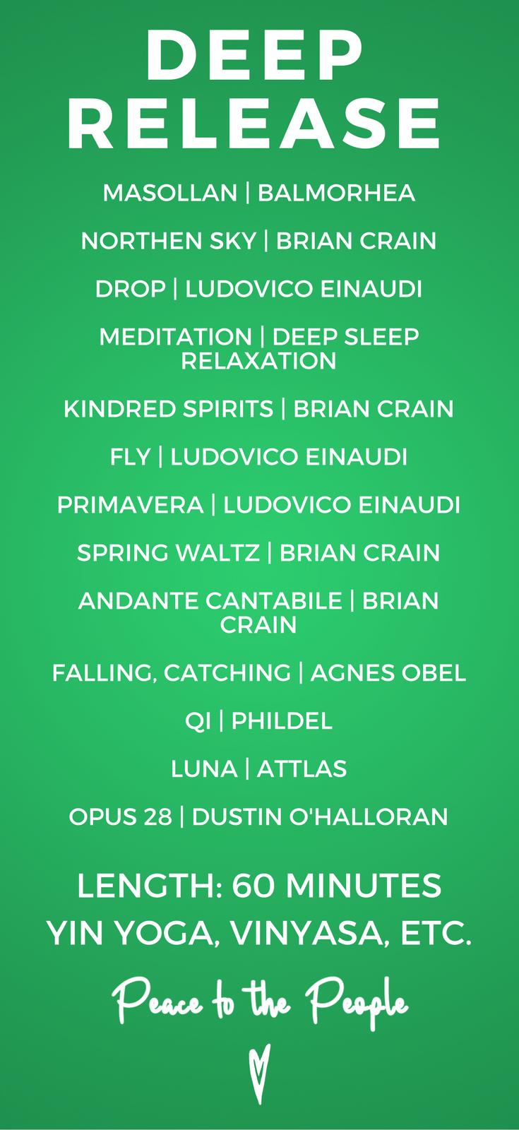 Deep Release Yin Yoga | 60 Minute Relaxing Vinyasa Playlist