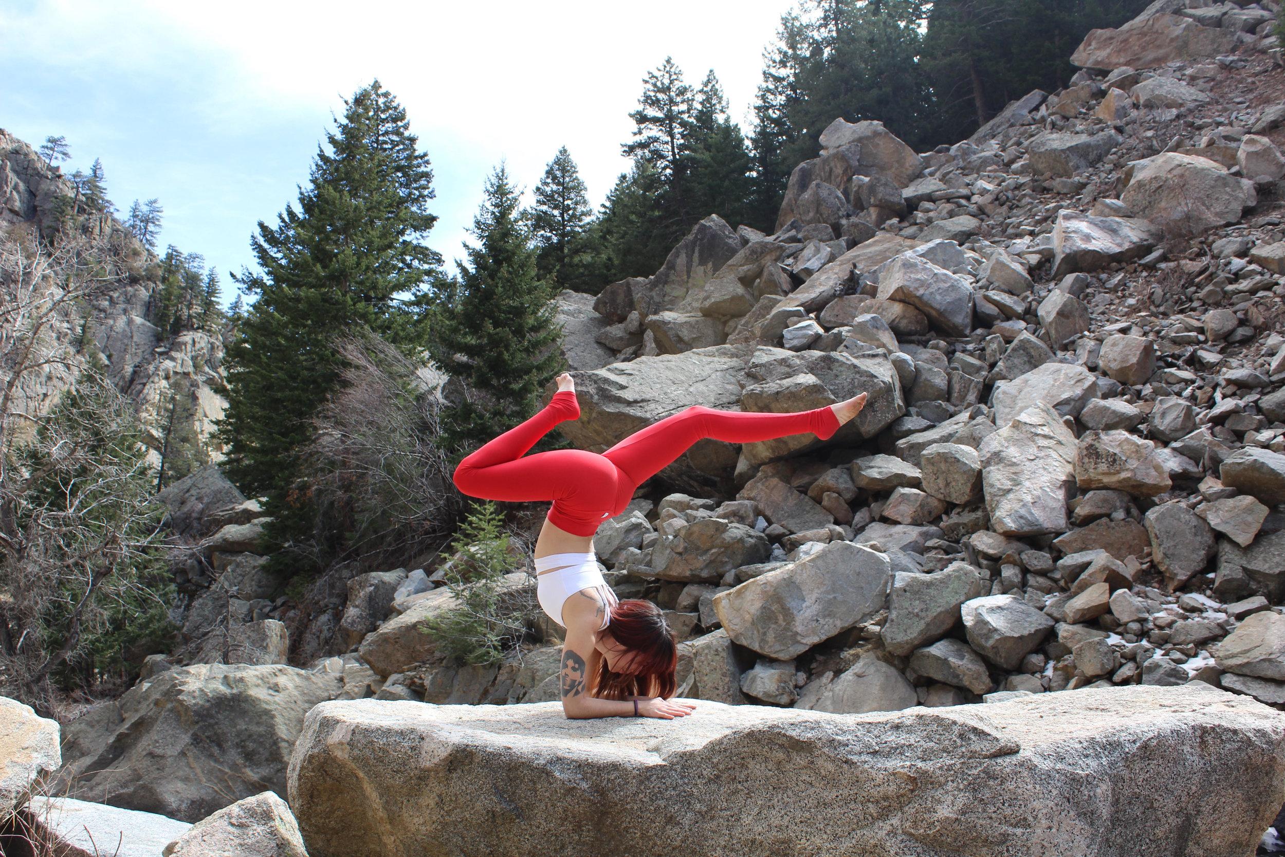 Milena Arm Balance Yoga Strength