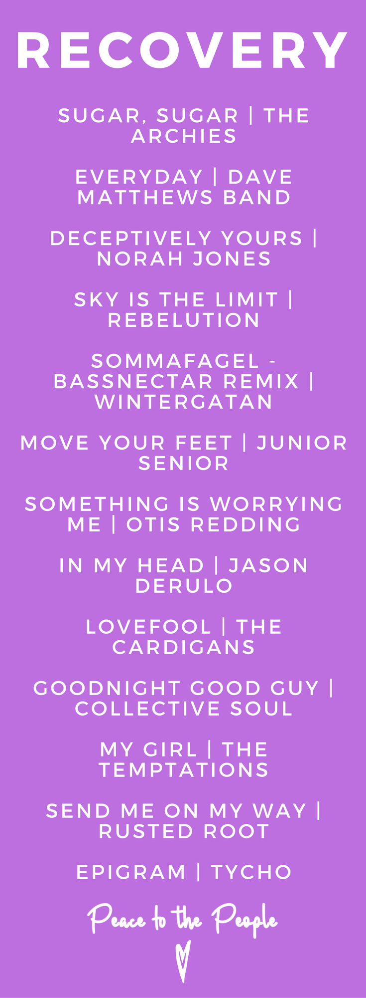 Recovery Relaxing Feel Good Fitness Wellness Music Playlist Peace to the People.png