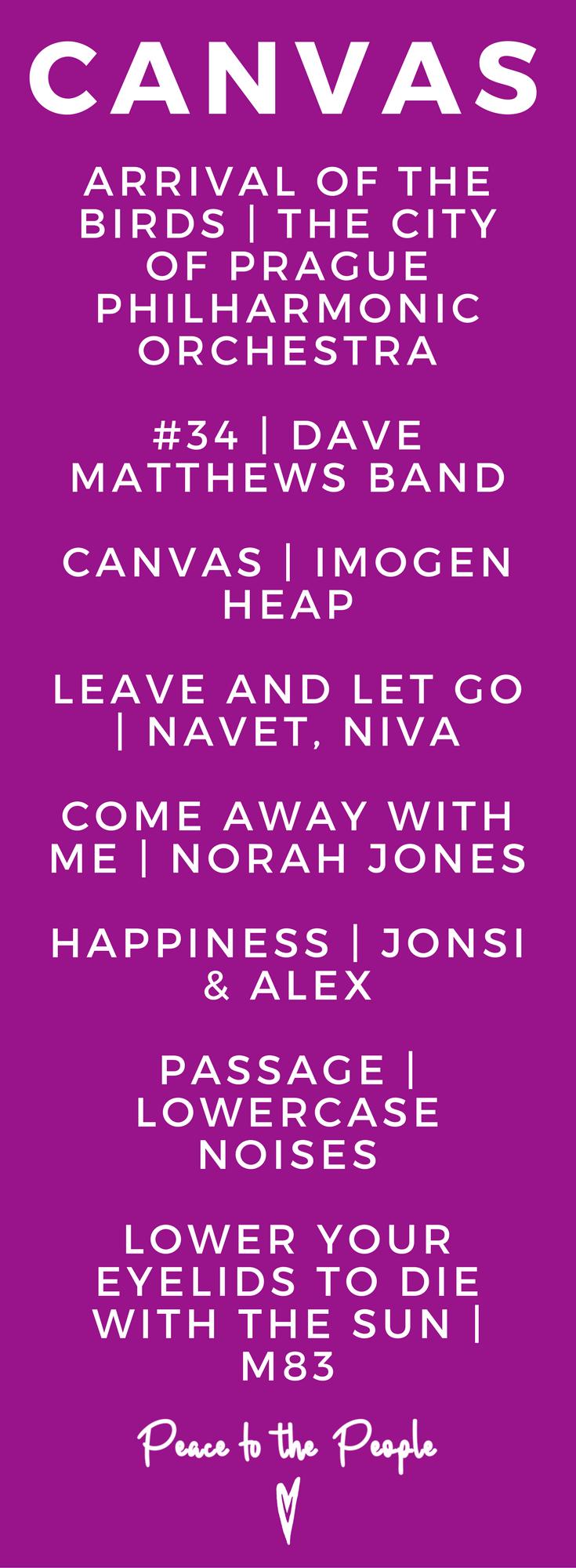 Canvas Gentle Relaxing Yoga Playlist Yin Vinyasa Imogen Heap Norah Jones Beautiful.png
