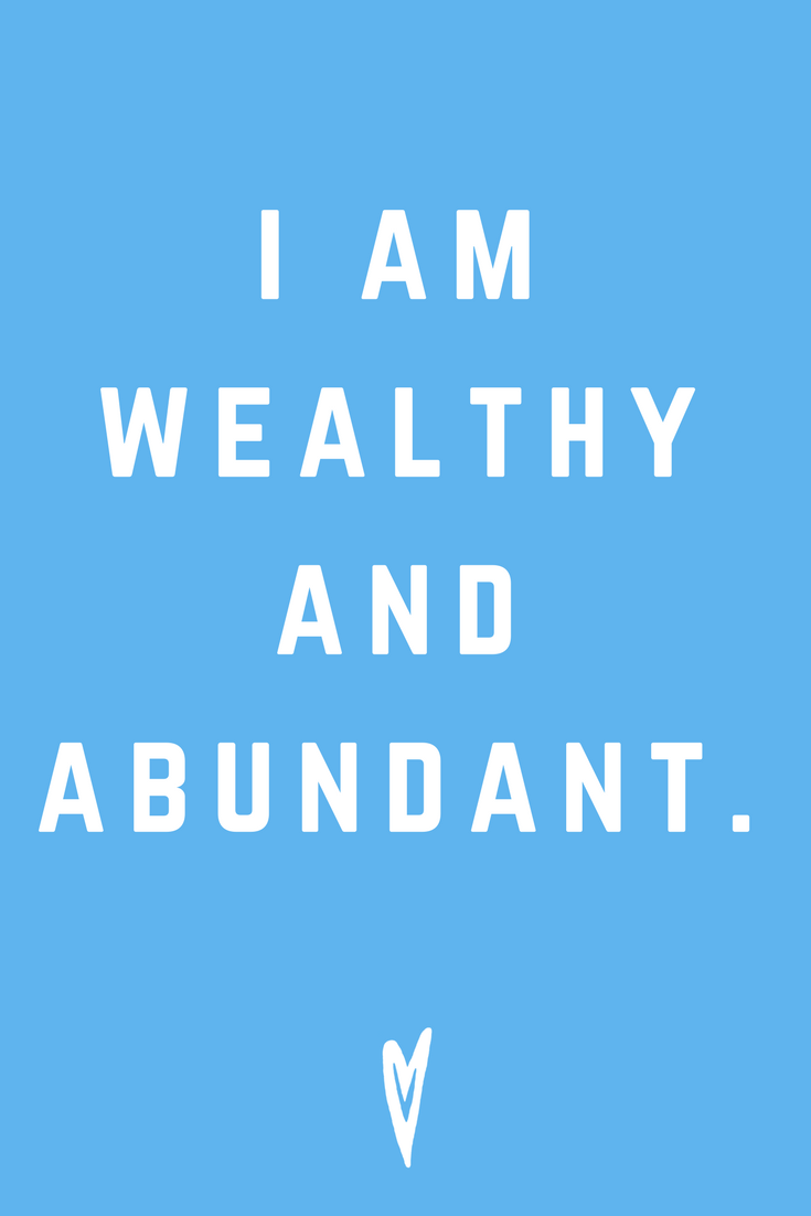 I Am Wealthy And Abundant • Quote Inspiration Mantra Positive Affirmation Peace to the People • #affirmations #inspiration #selflove.png
