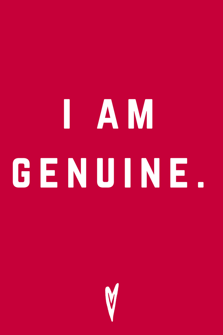 I Am Genuine • Quote Inspiration Mantra Positive Affirmation Peace to the People • #affirmations #inspiration #selflove.png