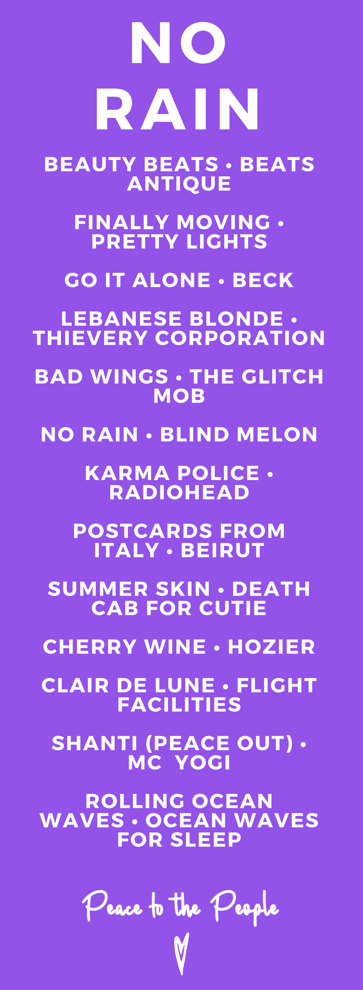 No Rain • Peace to the People • Music, Playlists, Yoga, Fitness, Wellness, Inspiration.png