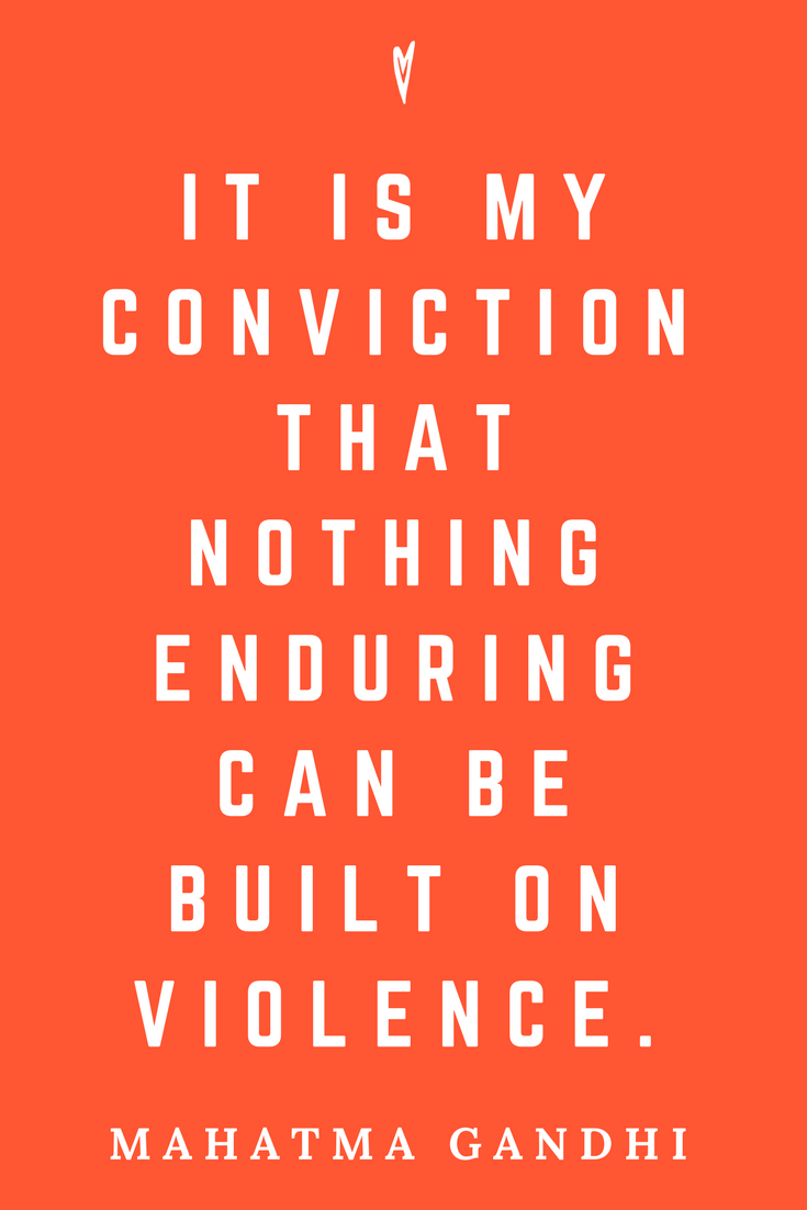 Mahatma Gandhi • Top 25 Quotes • Peace to the People • Columbus, Ohio • Inspiration, Motivation, Blog • Violence.png