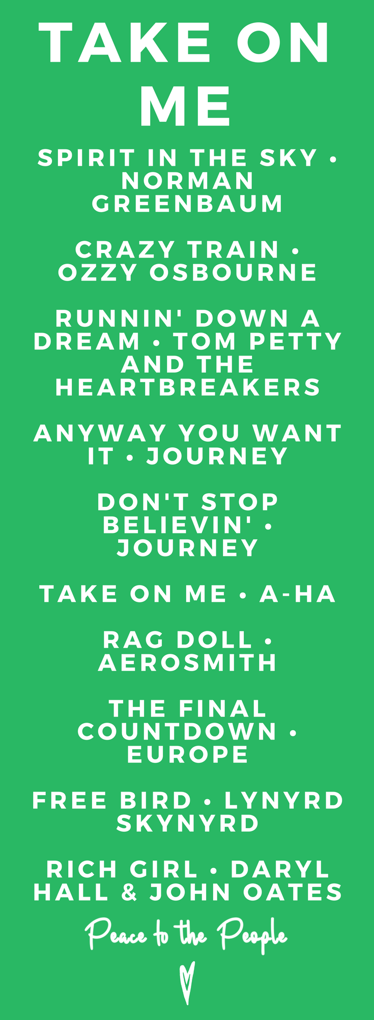 Take On Me • Playlists • Music, Fitness, Yoga, Peaceful, Feel Good • Peace to the People.png