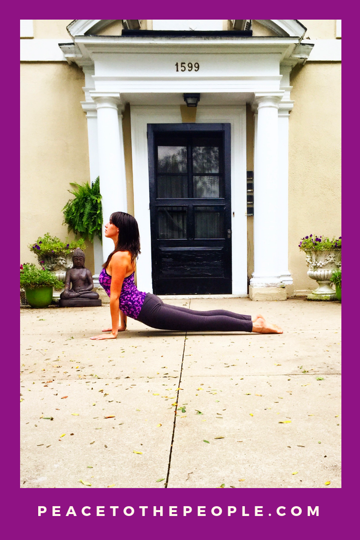 Columbus Ohio Private Yoga and Meditation Sessions • Arena District Athletic Club • Peace to the People • Upward Facing Dog