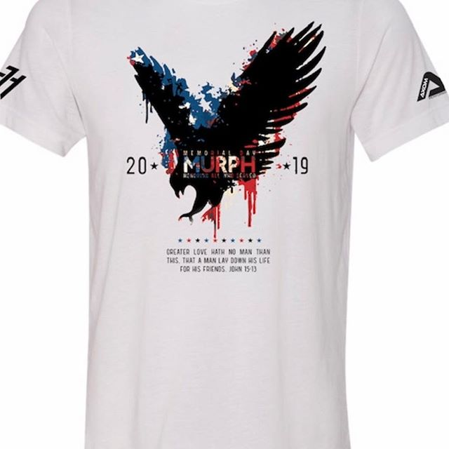 The 2019 #Murph shirts are available for pre order. This year we will be doing Men's/ Women's Tee/ Women's Tank/ Youth shirts. There are options for local pickup and shipping 🇺🇸 http://axomperformance.com/ 📦 proceeds will be going to PIECES OF HOME which is an amazing charity that sends care packages to deployed troops. Join us for our local event and show your support and patriotism !👏🇺🇸 #axomperformance #memorialdayweekend #murph #murphchallenge #memorialweekend #crossfit #crossfitlife #fitfam #fitnessmotivation #fitness #veterans #merica