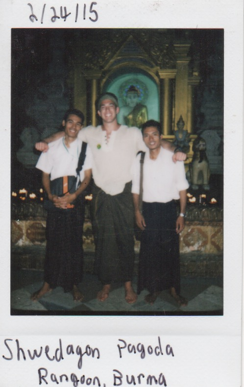 Soon after meeting John at the Shwedagon