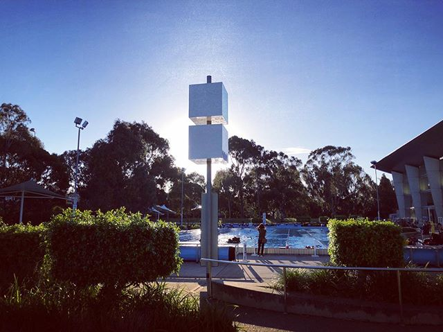 The place to be on sunny October evenings! Great to see so many swimmers at training lately. #healthfirst #homeworkcanwait #swimmerslife #melbourne
