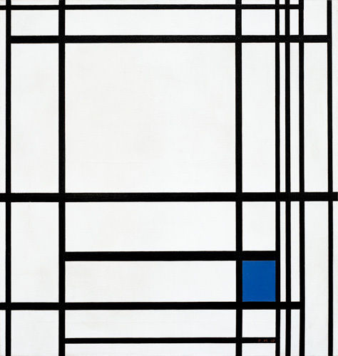 Piet Mondrian : Composition of Lines and Colour III; Composition with Blue, 1937