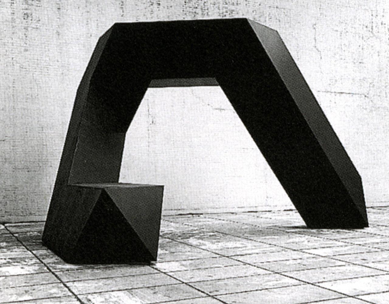 Tony Smith:Cigarette, 1961, Fabricated 1971